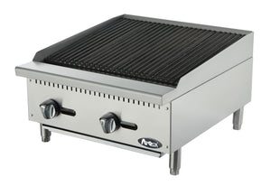 "NEW Atosa ATCB-24 Heavy Duty Stainless Steel 24"" Char-Rock Broiler"