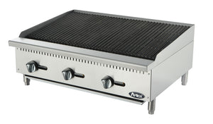 "NEW Atosa ATCB-36 Heavy Duty Stainless Steel 36"" Char-Rock Broiler"