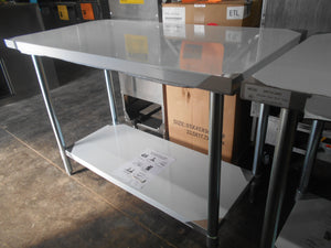 "BRAND NEW! Atosa MRTW‑2448 48"" Stainless Steel Work Table w/ Undershelf"