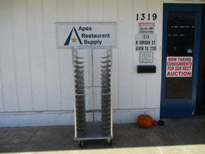 Servolift UW66-18 Aluminum Tray Rack On Casters 26x24x65 #5436