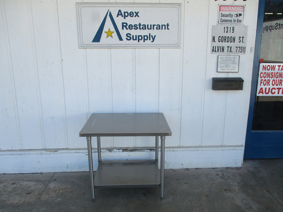 All Stainless Steel Table 36x30x35. Great Shape  #5577