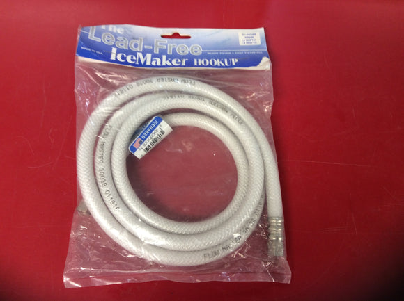 #2987 Ice Maker Connection Hose 5' Lead Free NEW