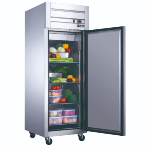 New Dukers D28AR Commercial Single Door Top Mount Refrigerator in Stainless Steel