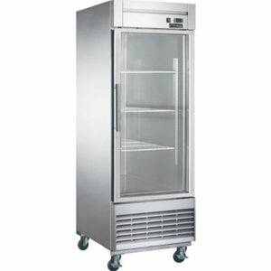 New Dukers D28R-GS1 Bottom Mount Glass Single Door Commercial Reach-in Refrigerator