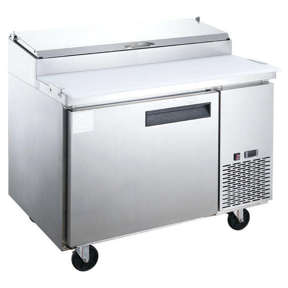 New! Dukers DPP44-6-S1 Commercial Single Door Pizza Prep Table Refrigerator
