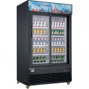 New Dukers DSM-40SR Commercial Glass Sliding 2-Door Merchandiser Refrigerator