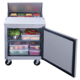 New Dukers DSP29-8-S1  commercial food prep table refrigerator