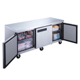 New Dukers DUC72F 3-Door 72'' Undercounter Freezer in Stainless Steel