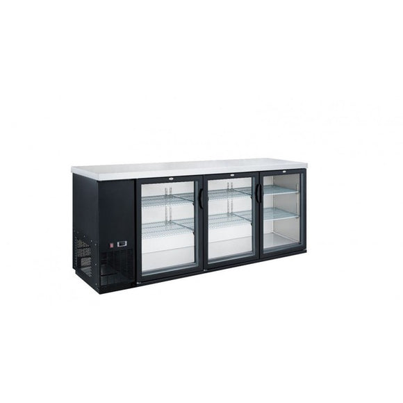 New Dukers DBB72-S3 3-Door Bar and Beverage Cooler (Sliding Doors)