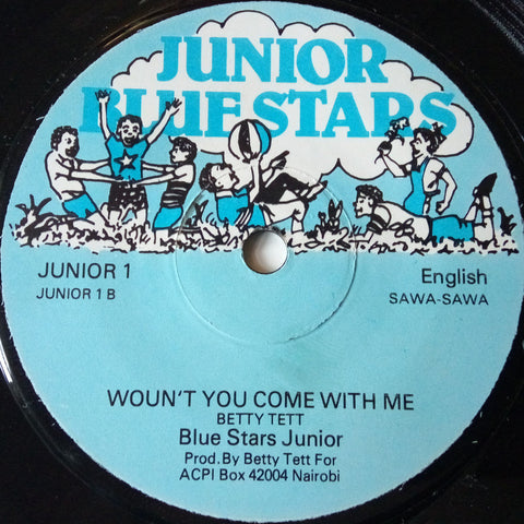 The Blue Stars Junior - I like to be / Woun't you come with me
