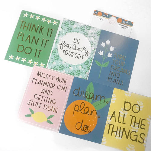 Citrus Journaling Cards