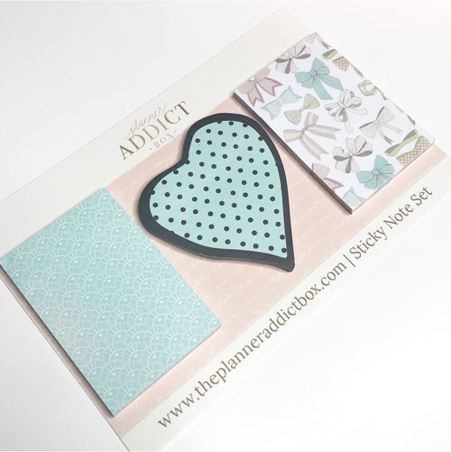 Heart Sticky Note Set