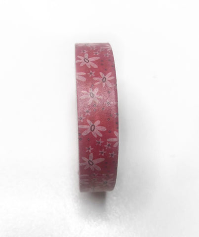 Red Floral Washi Tape