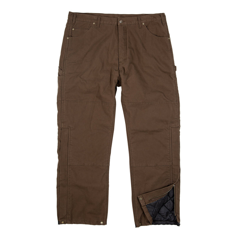 Insulated Sanded Duck Bib Overall Pant - Quilt Lined