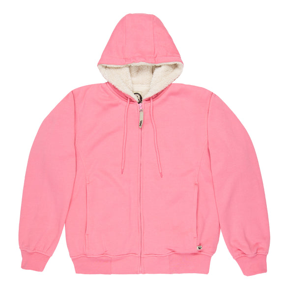 Ladies Fleece Hooded Jacket - Fine Sherpa Lined