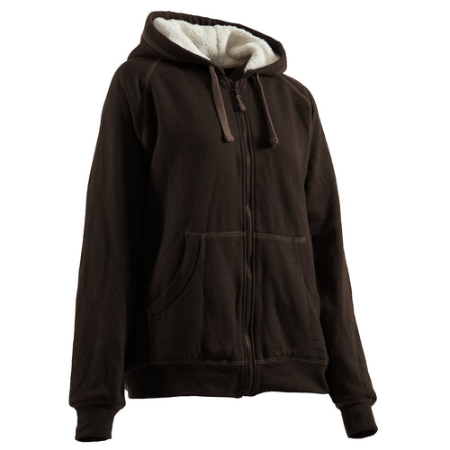 Ladies Zip-Front Hooded Sweatshirt