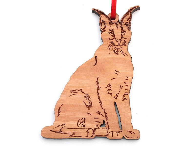 Wooden Ornament - Caracal