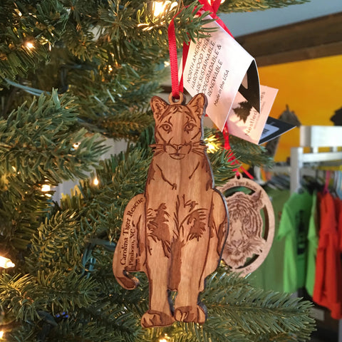 Wooden Ornament - Cougar