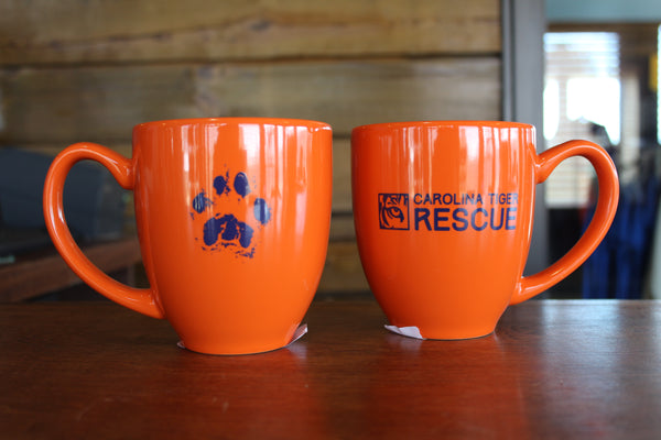 Orange Mug with Paw Print