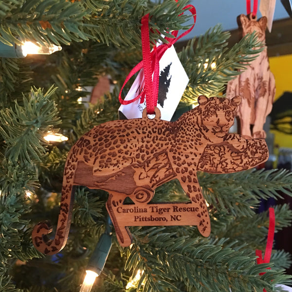 Wooden Ornament - Leopard