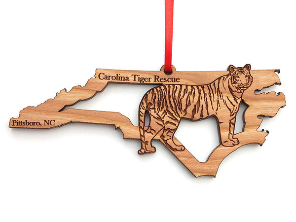 Wooden Ornament - Tiger & NC
