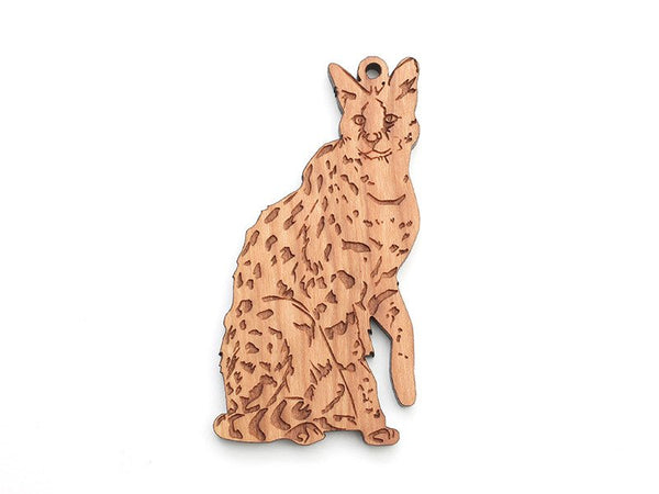 Wooden Ornament - Serval