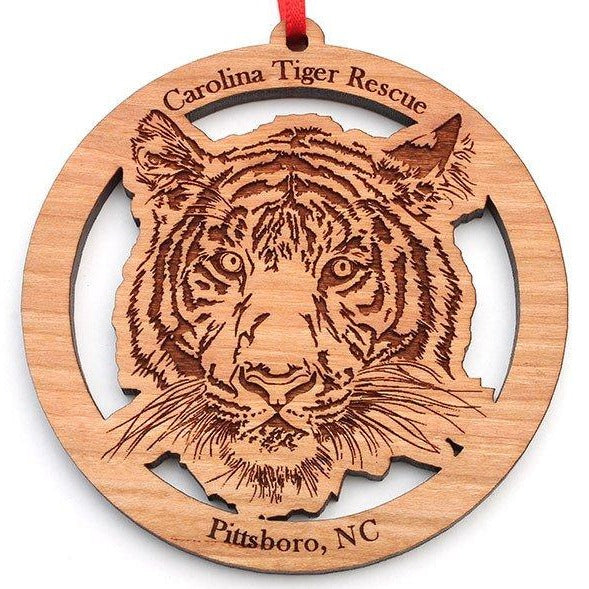 Wooden Ornament - Tiger & Logo