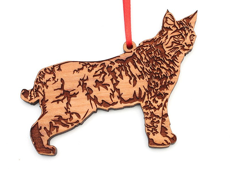 Wooden Ornament - Bobcat