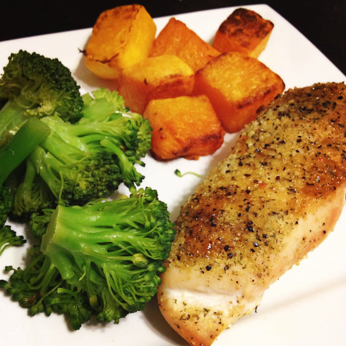 Chicken Breast with Butternut Squash and Broccoli