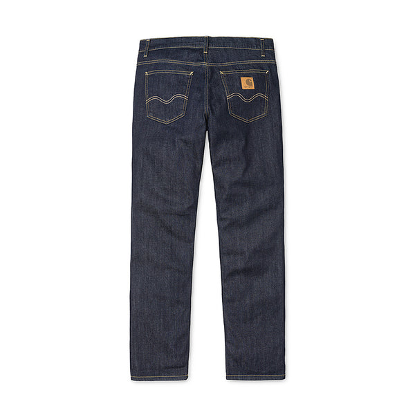 Carhartt WIP Texas Pant Spicer Cotton/Elastane Blue Stretch Denim 12 Oz Blue Rinsed