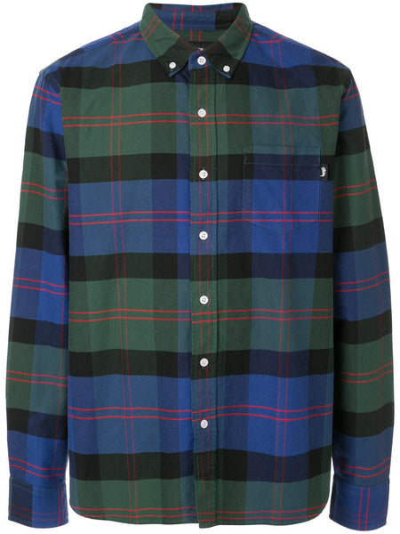 Stussy Classic  Oxford LS Shirt   Green Plaid
