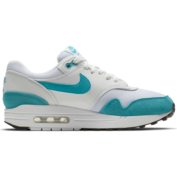 NIke WMNS Air Max 1 / White/Lt Blue Fury-Black
