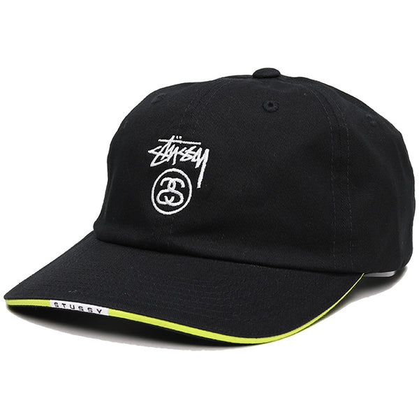 Stüssy Sandwich Visor Low Pro Cap Black