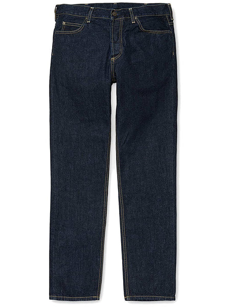 Carhartt WIP Texas Pant Edgewood Cotton Blue Denim 12 Oz Blue Rinsed