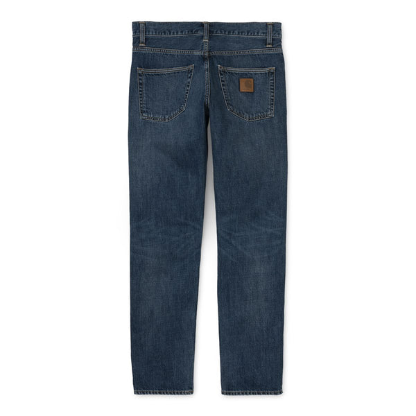 Carhartt WIP Klondike Pant Edgewood Blue Denim Mid Worn Wash