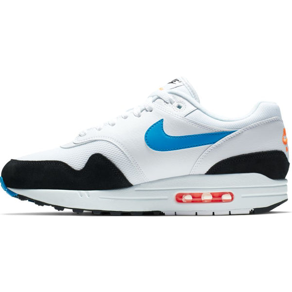 Nike Air Max 1 / White/Photo Blue-Total Orange