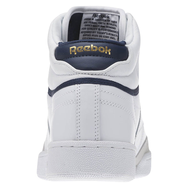 REEBOK CLUB C 85 MID    White/Steel/Collegiate Navy/Gold