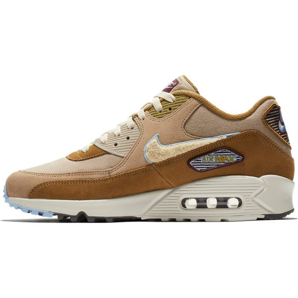 NIKE Air Max 90 Premium SE SHOE MUTED BRONZE/LIGHT CREAM-ROYAL TINT