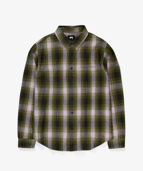 Stussy Alton Plaid Long sleeve olive