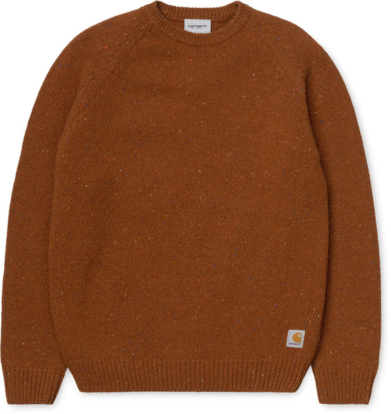 Carhartt Anglistic Sweater Brandy Heather