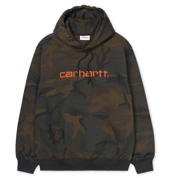 Carhartt WIP Hooded Carhartt Sweat Camo Evergreen/Brick Orange