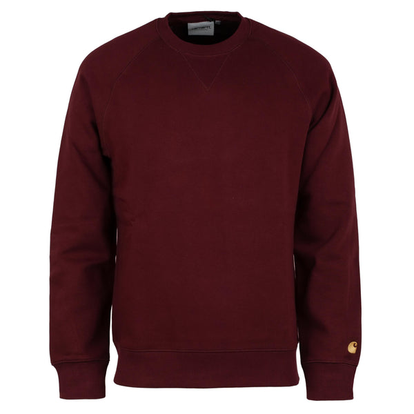 Carhartt Chase Sweat Bordeaux/Gold