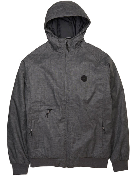 Cleptomanicx Polar zipper Hemp 2 heather dr. grey