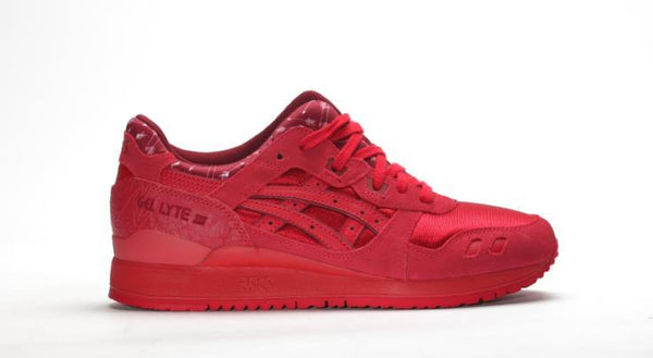 "ASICS GEL-LYTE III RED/RED "" Valantine´s Pack """