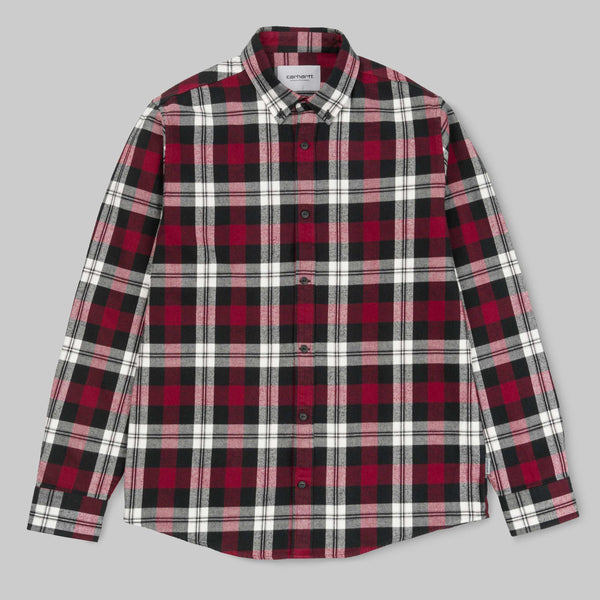 Carhartt L/S Lessing Shirt 100% Cotton Twill Flannel, 6.9 oz