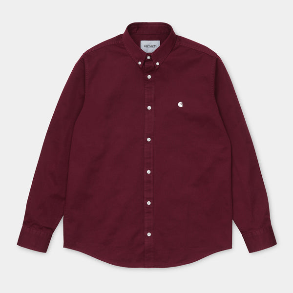 Carhartt L/S Madison Shirt Boardeaux/Wax