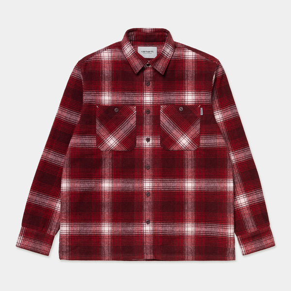 Carhartt L/S Nigel Shirt Nigel Check Rocket