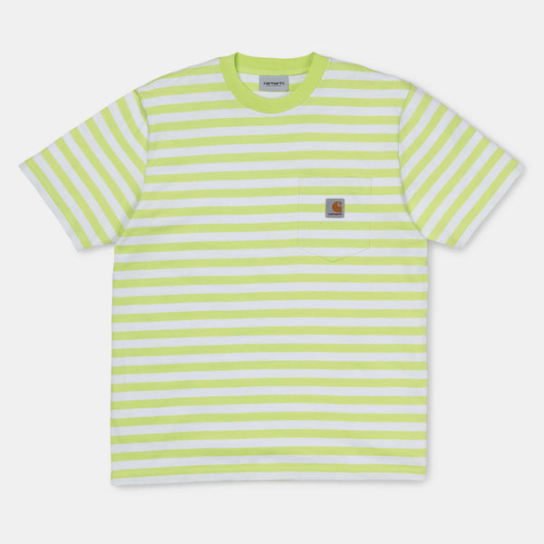 Carhartt WIP S/S Scotty Pocket T-Shirt Scotty Stripe Lime/White