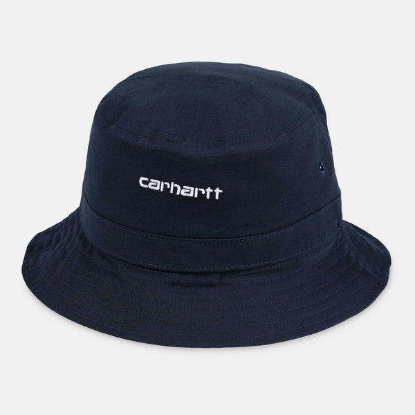 Carhartt Script Bucket Hat Cotton Dark Navy/White