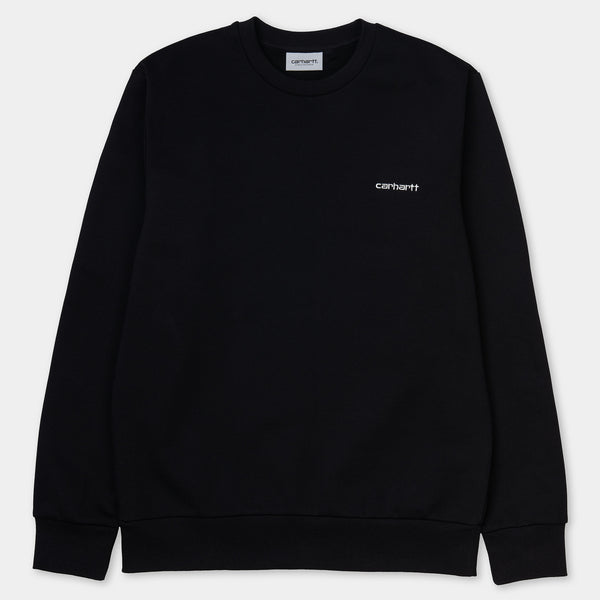 Carhartt Script Embroidery Sweater Black/White